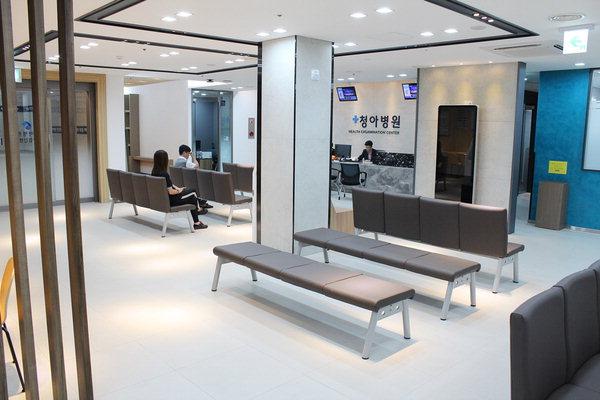 ▲ 지하 1층으로 옮겨 확장 재정비된 청아병원 건강검진센터. /청아병원